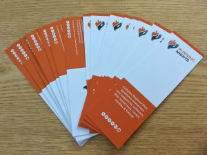 CRPS-RSD Awareness Bookmarks and folded CRPS information card sets can be purchased direct from Burning Nights CRPS Support charity. Products can be sent worldwide