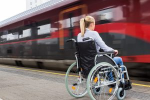 Disability access - train