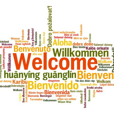 Welcome to the first of many blogs - Welcome in different languages
