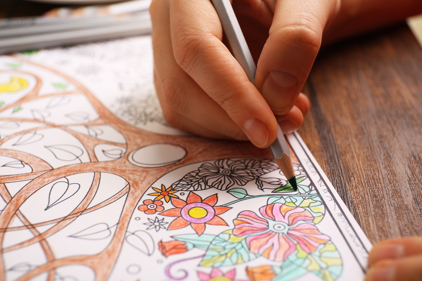 Distraction Techniques Adult Art Colouring For Pain Management And Stress on adult coloring pages for anxiety