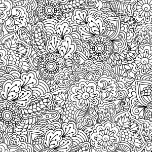 Distraction Techniques Adult colouring design