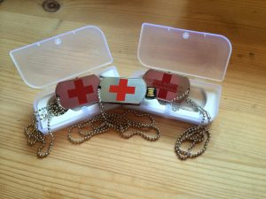 CRPS Awareness Products - Medical Alert USB dog tags