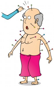 Acupuncture cartoon image