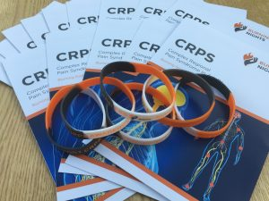 CRPS Awareness and Information Leaflet and CRPS wristband | Burning Nights CRPS Support