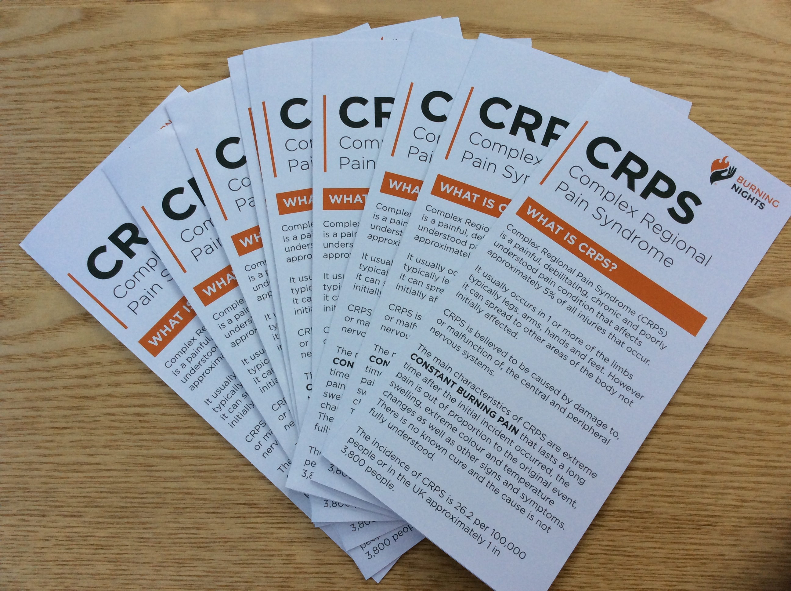 CRPS/RSD Awareness and Information Leaflet via Burning Nights CRPS Support