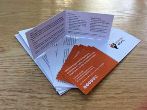 CRPS-RSD Awareness and information folded cards | Burning Nights CRPS Support