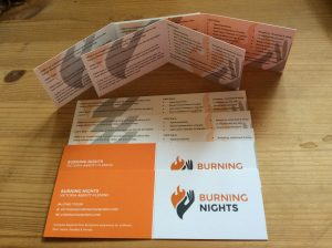 CRPS/RSD Awareness Products - Burning Nights CRPS/RSD Awareness Folded Cards