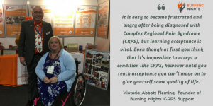 Acceptance for CRPS/RSD and Chronic Pain | Burning Nights CRPS Support | Victoria Abbott-Fleming quote on acceptance for CRPS