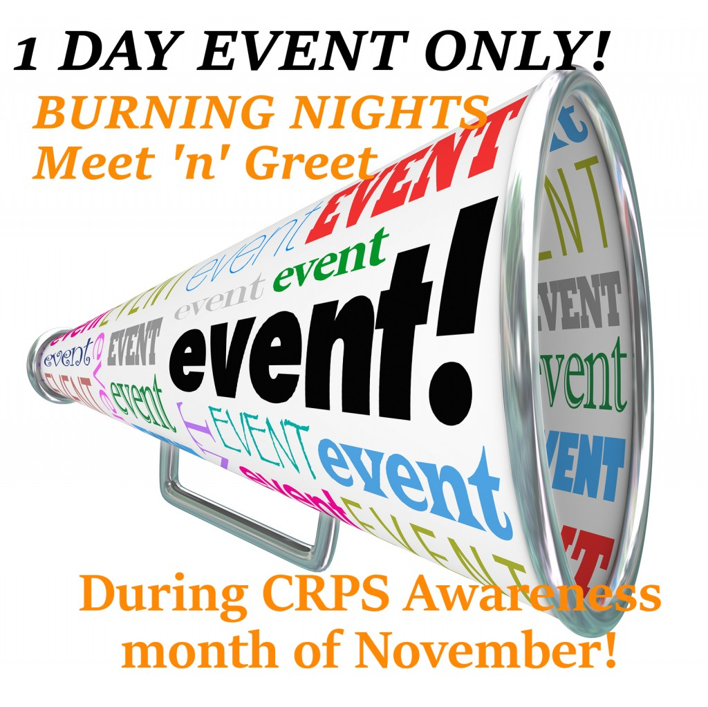Burning Nights Meet n Greet 4 CRPS Sufferers announcement