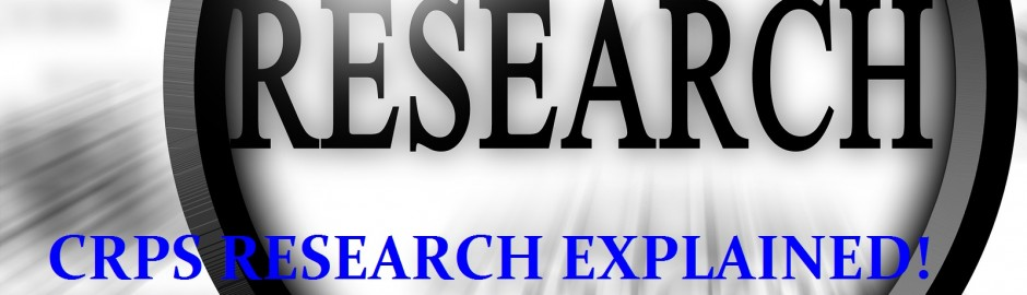 Research Exlained for CRPS/RSD treatments