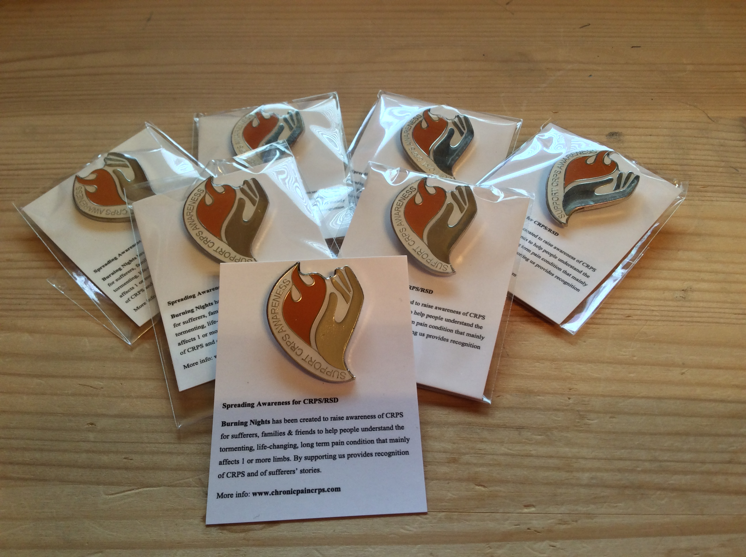 Support CRPS/RSD Awareness Enamel Badges