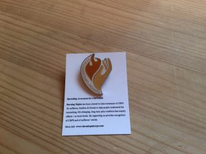 CRPS/RSD Enamel Badge & Backing card