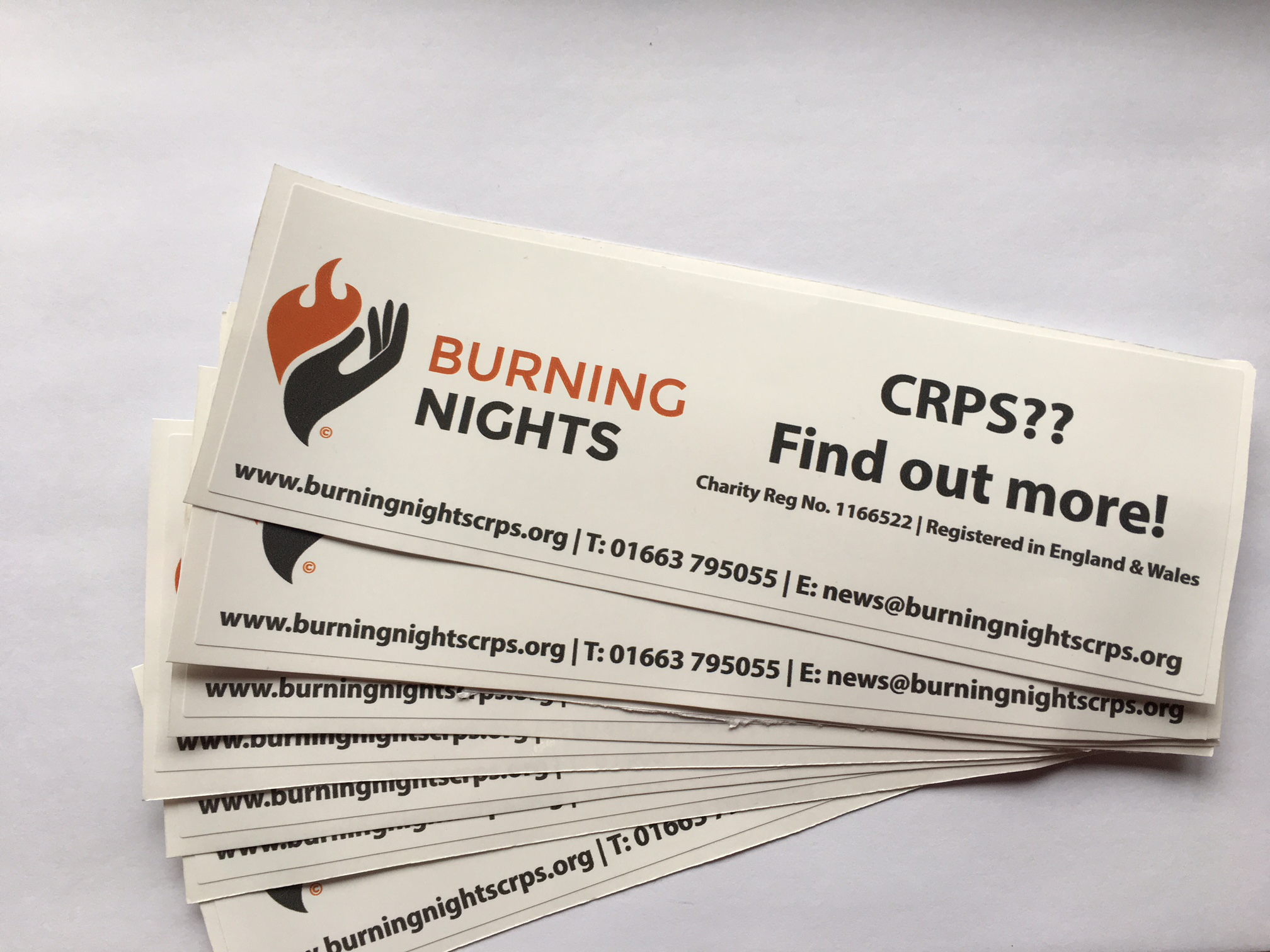 CRPS Bumper & Window Stickers   CRPS Products   Burning Nights CRPS Support