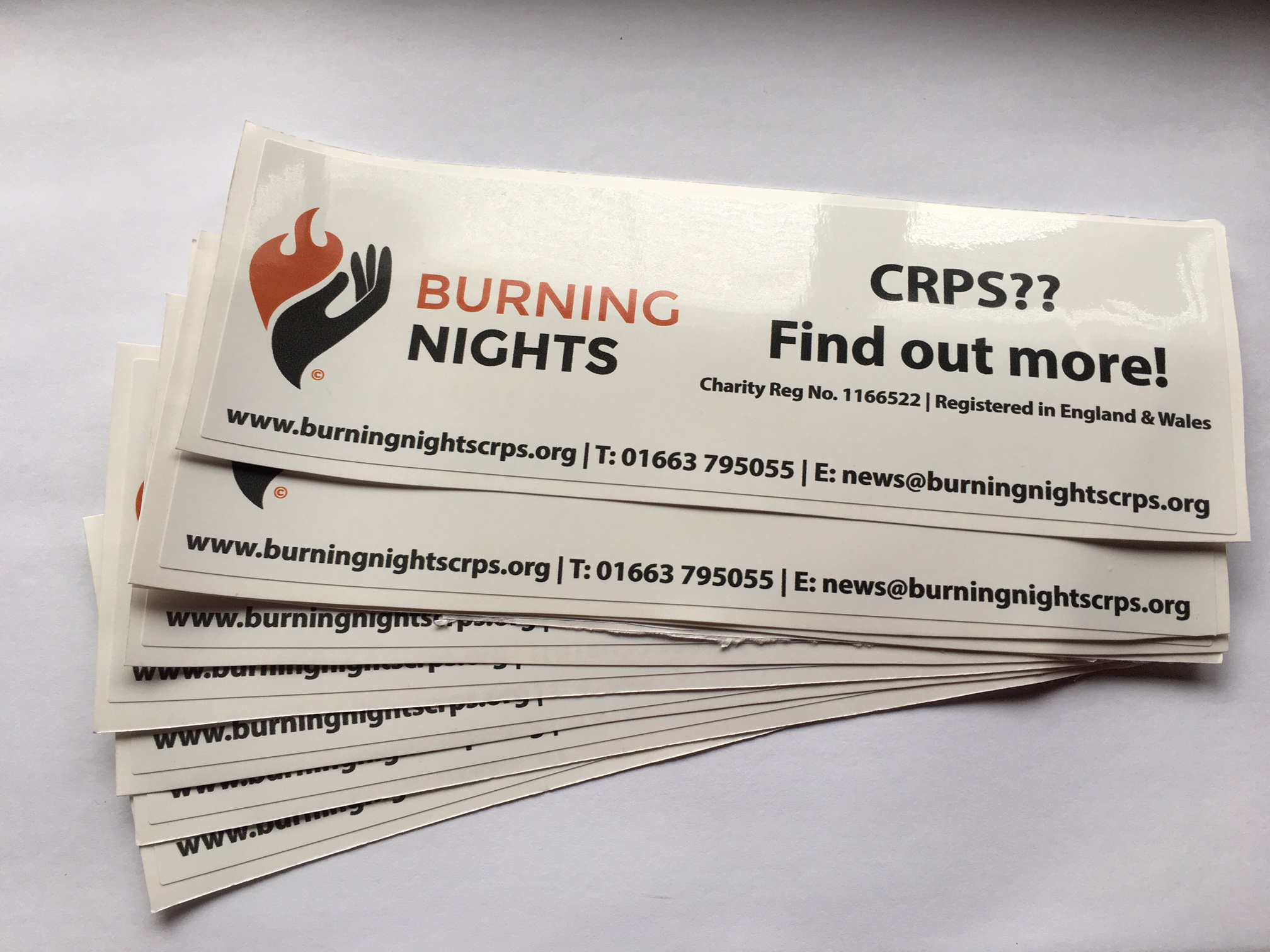 CRPS Bumper & Window Stickers | CRPS Products | Burning Nights CRPS Support