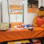 Burning Nights CRPS Support stand at Naidex disability show 2016