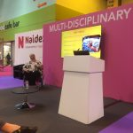 Burning Nights' Founder giving a speech at Naidex 2016