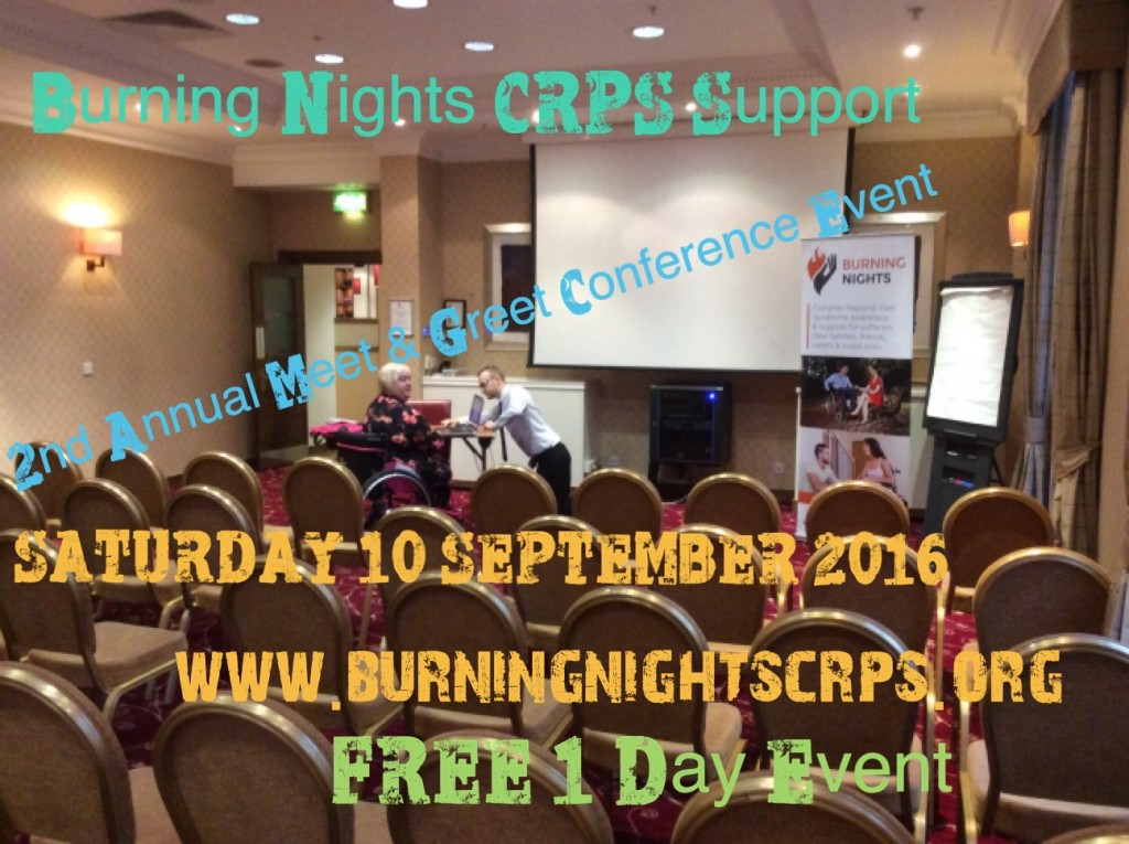Burning Nights CRPS Support 2nd Annual Meet & Greet conference