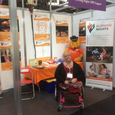 Burning Nights stand & founder at Naidex disability show 2016
