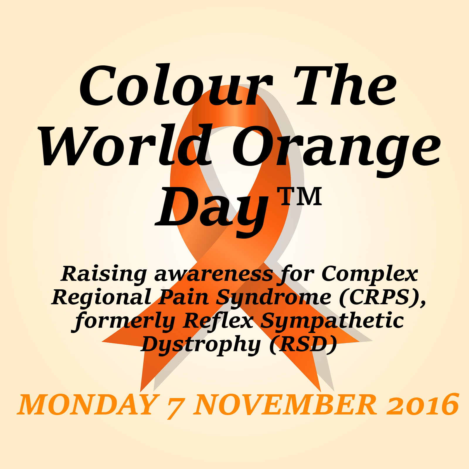 Colour The World Orange Day | CRPS Awareness Day