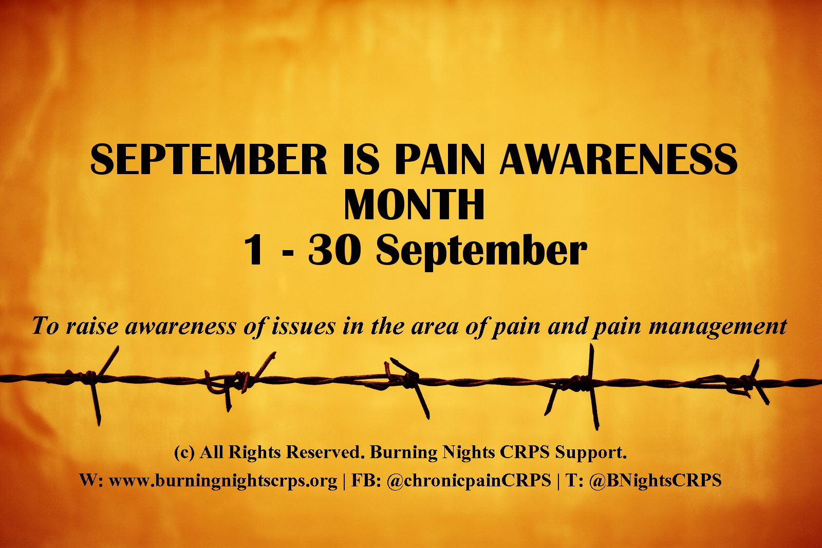 Pain Awareness Month | Burning Nights CRPS