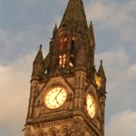 Manchester Town Hall Lights change Nov 2016 - Clock tower