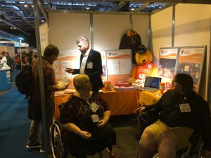 OT show-stand-meeting healthcare professionals raising CRPS awareness