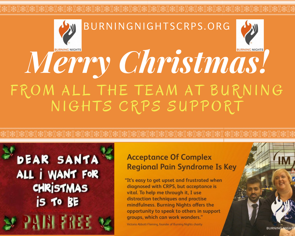 Merry Christmas & Happy New Year!   Burning Nights CRPS Support