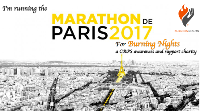 Paris Marathon fundraiser | Burning Nights CRPS Support