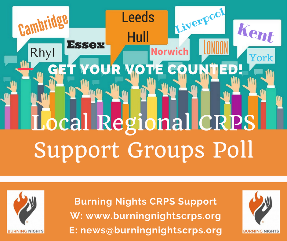 Local Regional CRPS Support Groups Poll | Burning Nights CRPS Support | UK CRPS Charity