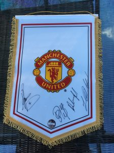 3rd Annual National Burning Nights CRPS Support Conference - Auction - Manchester United pennant