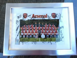 Burning Nights CRPS Support 3rd Annual National CRPS Conference - Auction - Arsenal signed and framed photo