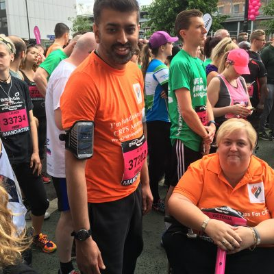 Manchester 10k Victoria and Altaf
