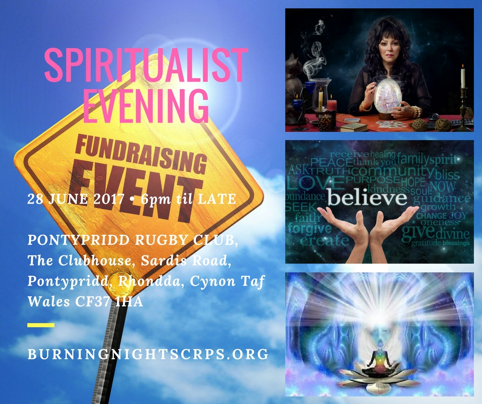 Spiritualist Evening | Fundraiser in aid of Burning Nights CRPS Support
