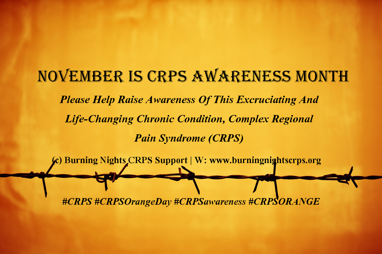 CRPS Awareness Month | Support | Burning Nights