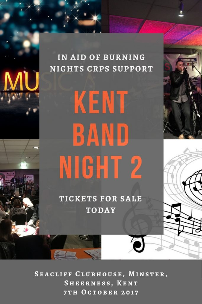 Kent Band Night 2 | In aid of Burning Nights CRPS Support