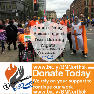 Great North Run 5k   Support Burning Nights CRPS Support