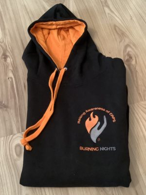 Support CRPS awareness with our exclusive black and orange hoodies