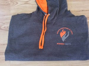 Exclusive and popular Burning Nights CRPS Support Hoodie