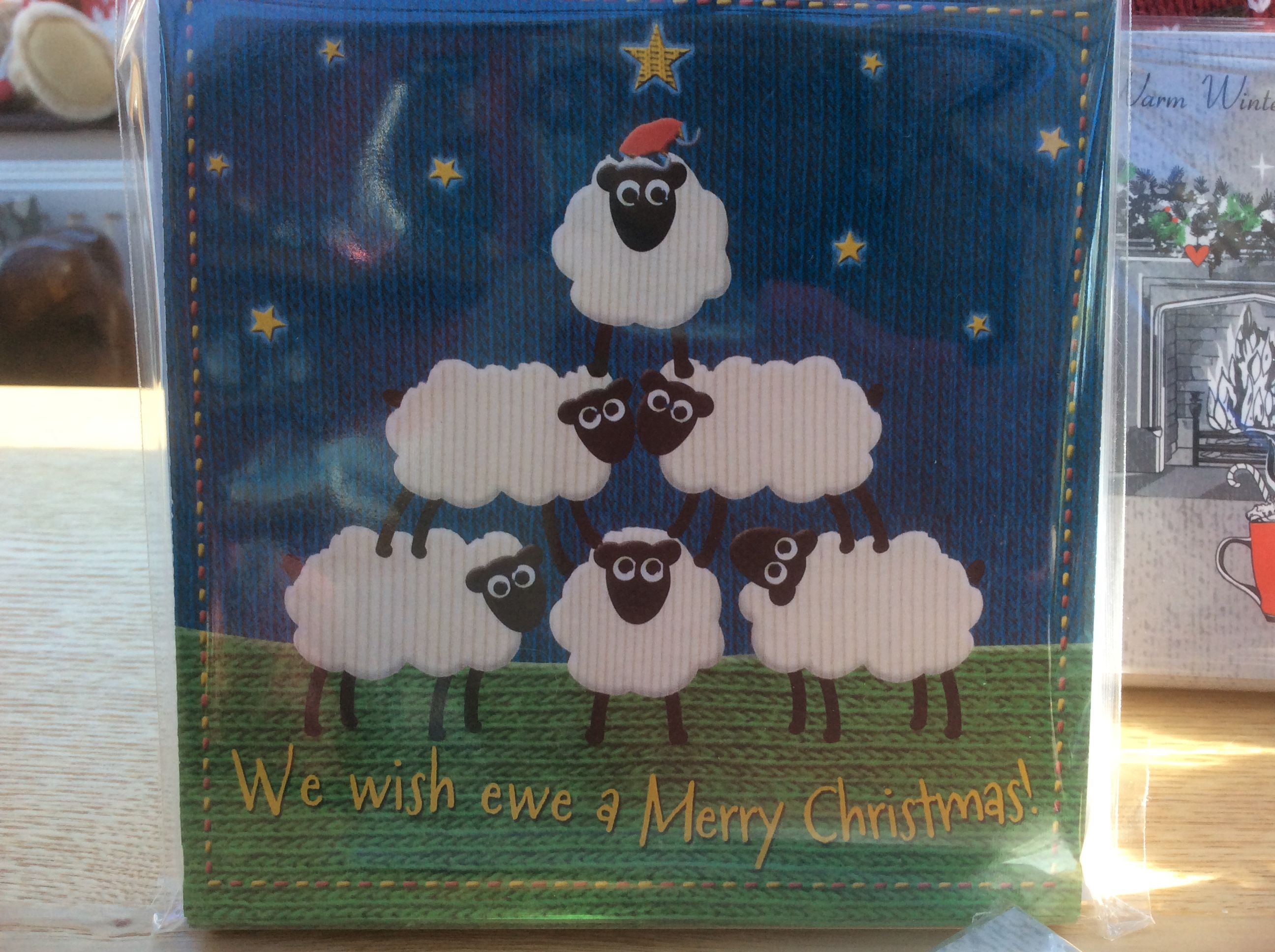 Christmas Cards for charity | individual card | We wish ewe a Merry Christmas | In aid of Burning Nights CRPS Support