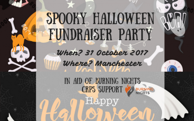 Spooky Halloween Fundraiser Party in Manchester all in aid of Burning Nights CRPS Support and raising awareness of CRPS