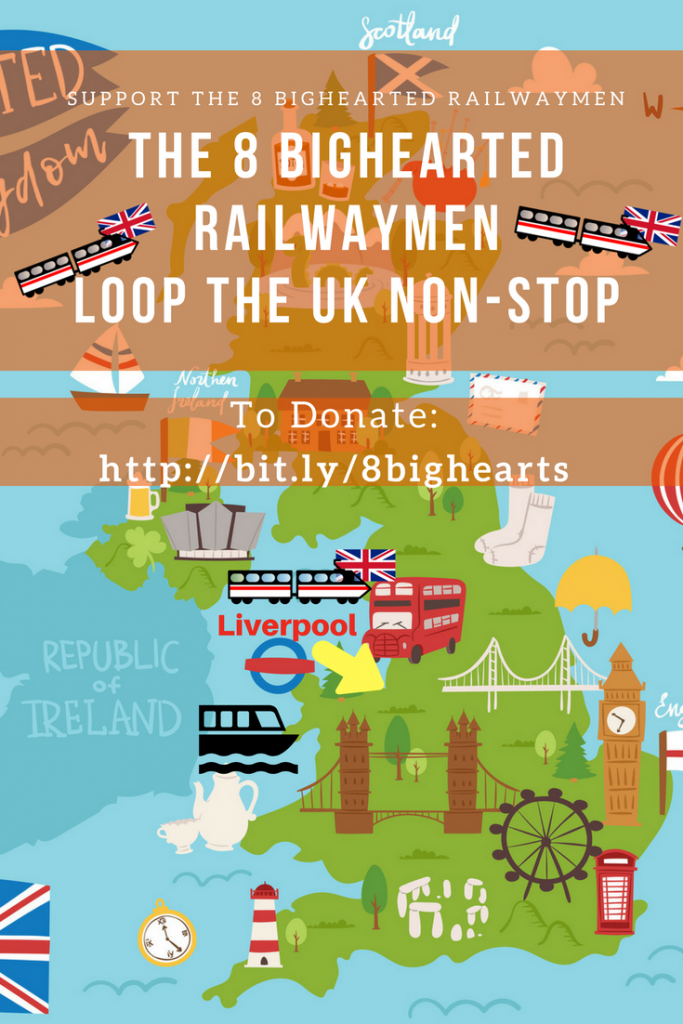 The 8 Bighearted Railwaymen Fundraiser in aid of Burning Nights CRPS Support