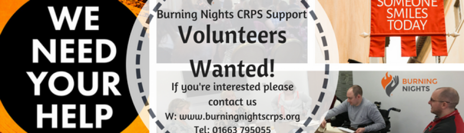 Volunteers Wanted for Burning Nights CRPS Support charity