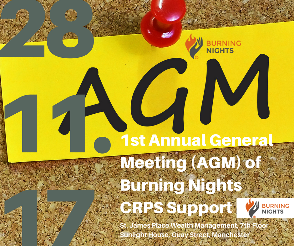 1st Annual General Meeting (AGM) of Burning Nights CRPS Support