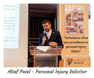 Altaf Patel - Personal Injury Solicitor - 3rd annual national Burning Nights CRPS Support conference