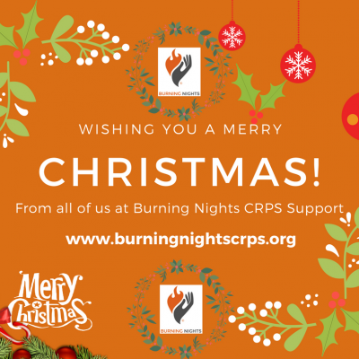 Merry Christmas & Happy New Year 2018 from all of us at Burning Nights CRPS Support charity