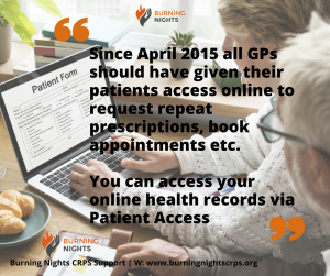 How To Access Your Medical Records | Getting Your Online GP Records | Burning Nights CRPS Support