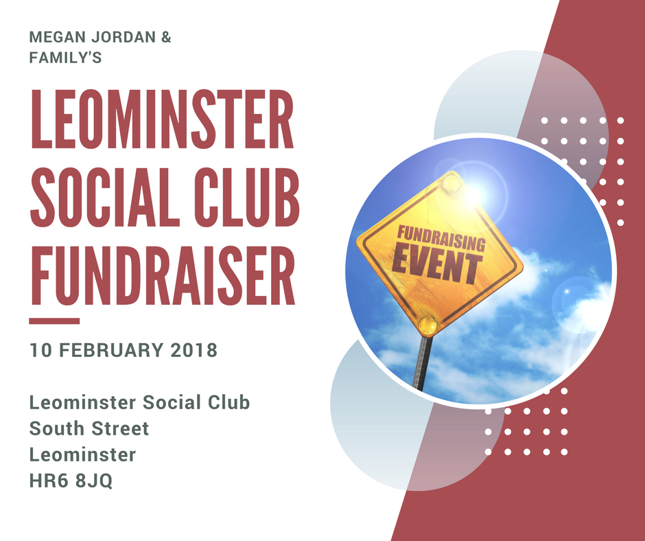 Leominster Social Club Fundraiser raising donations for Burning Nights CRPS Support and Megan Jordan a Complex Regional Pain Syndrome (CRPS) sufferer
