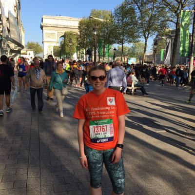 Paris Marathon runner in aid of Burning Nights CRPS Support