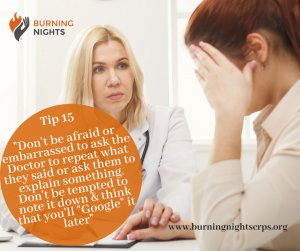 "18 Tips Preparing You For Your Pain Appointment - Tip 15 - Don't be afraid to ask the Doctor for clarification or ask them to explain something. Don't be tempted to ""Google"" it later"