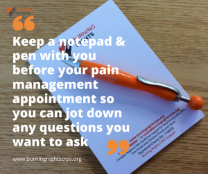 18 Tips Preparing You For Your Pain Appointment - Tip 3 - Keep a notepad and pen with you so you can note down any questions or concerns that you may have at any time before your pain appointment